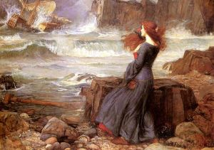 """Miranda - The Tempest"" by John William Waterhouse"